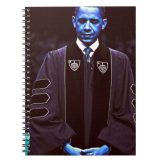 Caderno Espiral Presidente Barack Obama na universidade 3. de