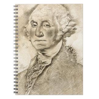 Caderno Espiral Presidente George Washington