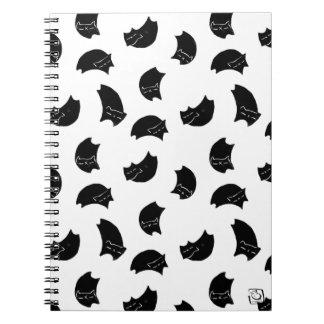 Caderno espiral preto de DreamCat - customizável