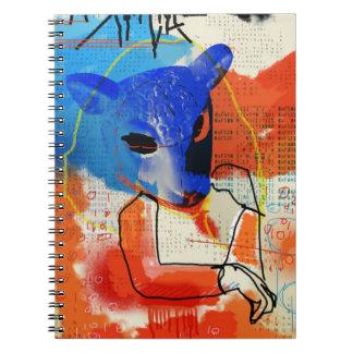 Caderno Espiral Preto órfão | MK - silhueta da máscara dos