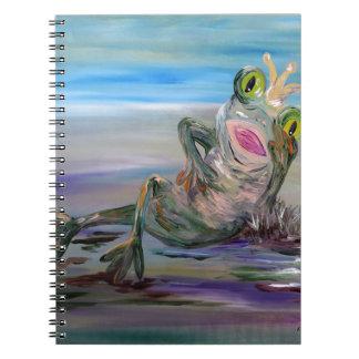 Caderno Espiral Princesa do sapo