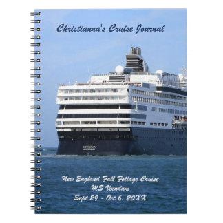 Caderno Espiral Proa e jornal ausente de cruzamento do cruzeiro do
