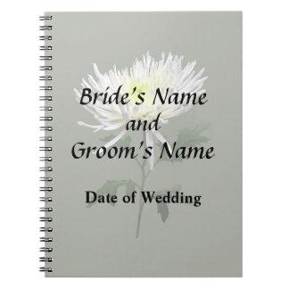 Caderno Espiral Produtos brancos do casamento da mãe da aranha