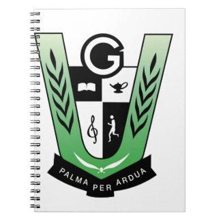 Caderno Espiral Produtos da crista da reunião dos alunos de GGMSS