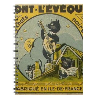 Caderno Espiral Propaganda do francês do vintage
