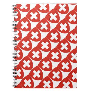 Caderno Espiral Protetor suíço da brasão