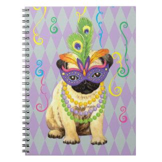 Caderno Espiral Pug do carnaval
