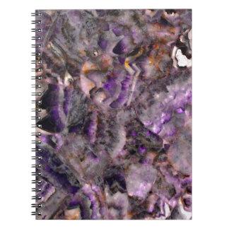 Caderno Espiral quartzo roxo