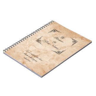 Caderno Espiral quote marble notebook victorian leaf desgin