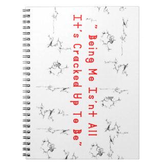 Caderno Espiral Rachadura 2 do café
