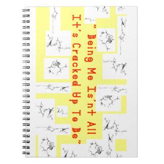 Caderno Espiral Rachadura do café