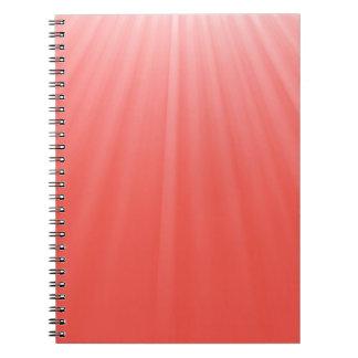 Caderno Espiral raios vermelhos