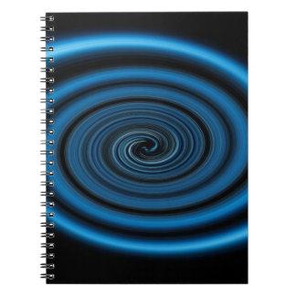 Caderno Espiral Redemoinho abstrato