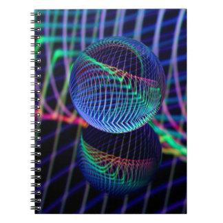 Caderno Espiral Redemoinhos e linhas na bola de vidro