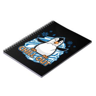 Caderno Espiral Refrigere para fora o pinguim