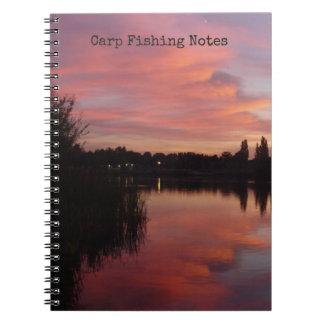 Caderno Espiral Registro da captura & das condições de pesca da