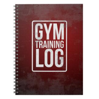 Caderno Espiral Registro do treinamento do Gym