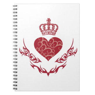 Caderno Espiral Rei do coração