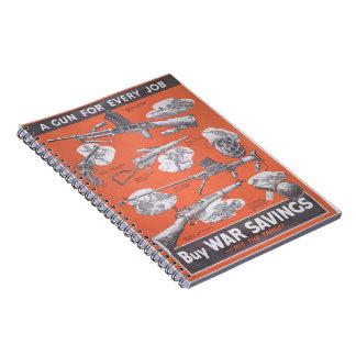 Caderno Espiral Reprodução do cartaz britânico do tempo de guerra