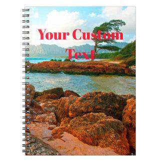 Caderno Espiral Retirada da praia das ilhas havaianas