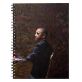 Caderno Espiral Retrato abstrato do presidente Barack Obama 13