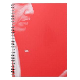Caderno Espiral Retrato do presidente Barack Obama 38c