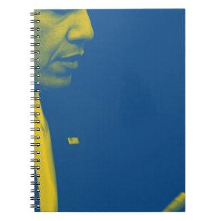 Caderno Espiral Retrato do presidente Barack Obama 38d