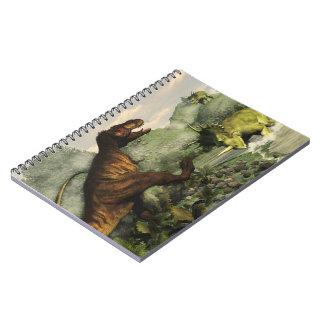 Caderno Espiral Rex do tiranossauro que luta contra o