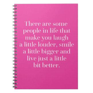 Caderno Espiral Ria um pouco umas citações mais altas