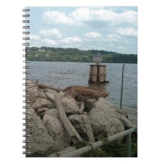 Caderno Espiral Rio Mississípi de Riverwalk Dubuque Iowa