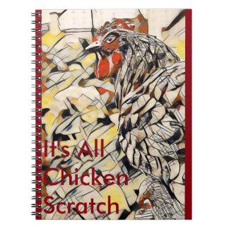Caderno Espiral Risco da galinha (caderno)