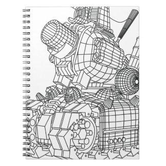 Caderno Espiral robot-2