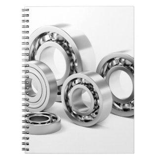 Caderno Espiral Rolamentos de esferas com tamanhos diferentes