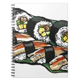 Caderno Espiral Rolo de sushi