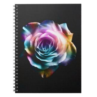 Caderno Espiral Rosa colorido da tintura do laço