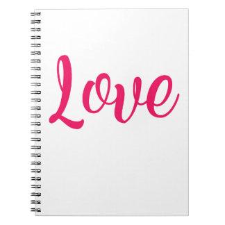 Caderno Espiral Rosa do amor