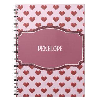 Caderno Espiral Rosa do deslizador do balé com placa de