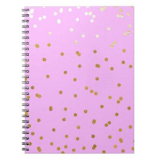 Caderno Espiral Rosa & encanto moderno do encanto dos pontos dos