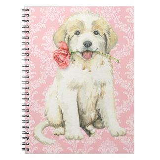 Caderno Espiral Rosa grandes Pyrenees dos namorados