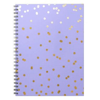 Caderno Espiral Roxo & encanto moderno do encanto dos pontos dos