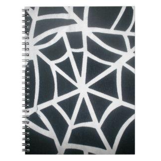 Caderno Espiral Rua preto e branco surpreendente da Web branca e