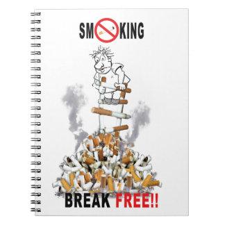 Caderno Espiral Ruptura livre - pare de fumar