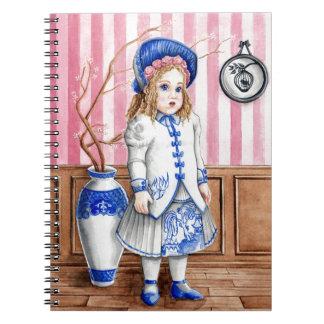 Caderno Espiral Salgueiro azul Bru