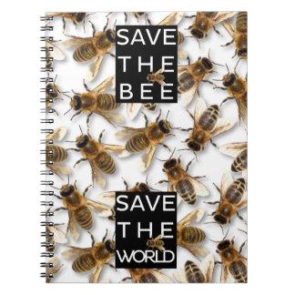 Caderno Espiral Salvar a abelha! Salvar o mundo! Abelha