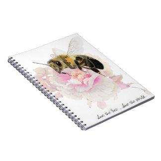 Caderno Espiral Salvar a abelha! Salvar o mundo! Abelha bonito