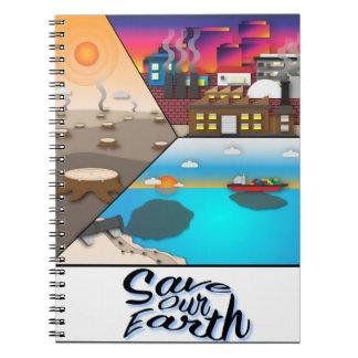 Caderno Espiral Salvar nossa terra
