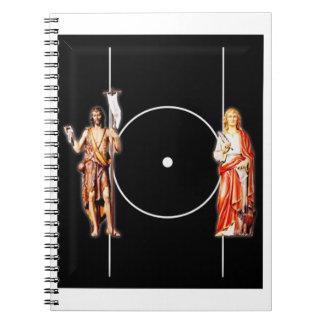 Caderno Espiral Santo santamente Johns