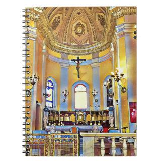 Caderno Espiral Santuário artístico velho bonito de San Juan