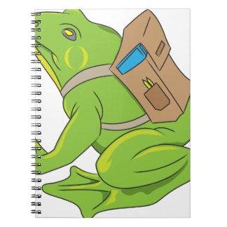 Caderno Espiral Sapo da escola