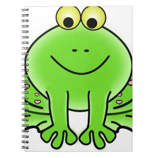 Caderno Espiral Sapo verde de floresta tropical